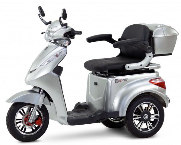 ECONELO Elektro-Dreiradroller S1000 Silber