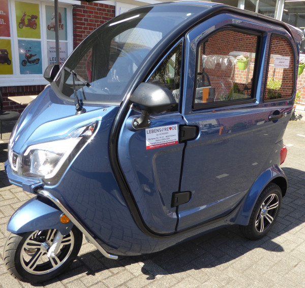 LEBENSFREUDE 3-Rad Elektro-Kabinenroller YMI De Luxe 25 km/h Blau