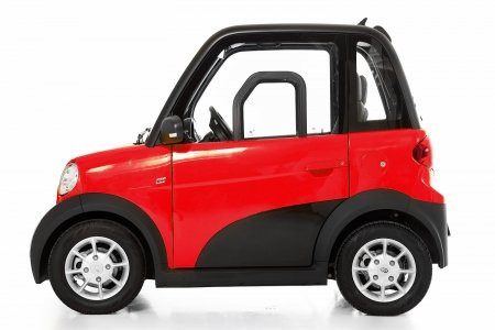 GECO Micro-Car TWIN 4-Rad-Elektro-Kabinenroller Rot